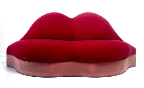 Salvador Dali's Lips sofa