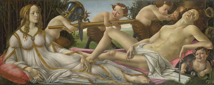 Sandro Botticelli, Venus and Mars, about 1485, © The National Gallery, London