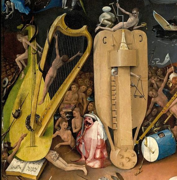 Bosch-musicHieronymus_-_The_Garden_of_Earthly_Delights,_right_panel_-_Detail_musical_instruments_(left)