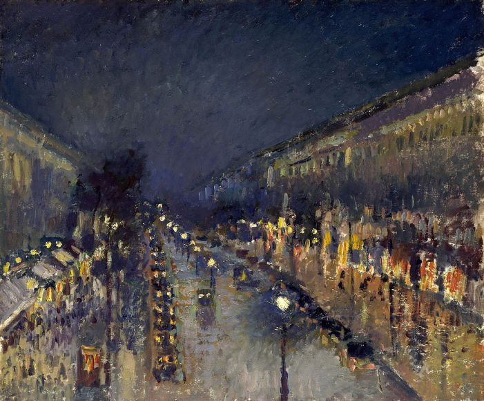 The Boulevard Montmartre at Night Pissarro, 1897