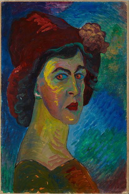 Self-Portrait, Marianne Werefkin, 1910
