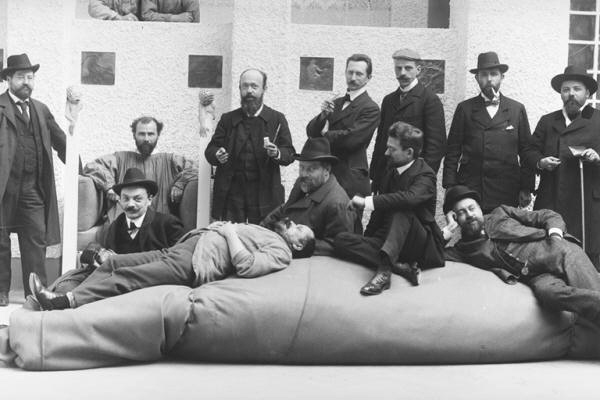 Gustav Klimt (seated second from the left) and the Secession Movement