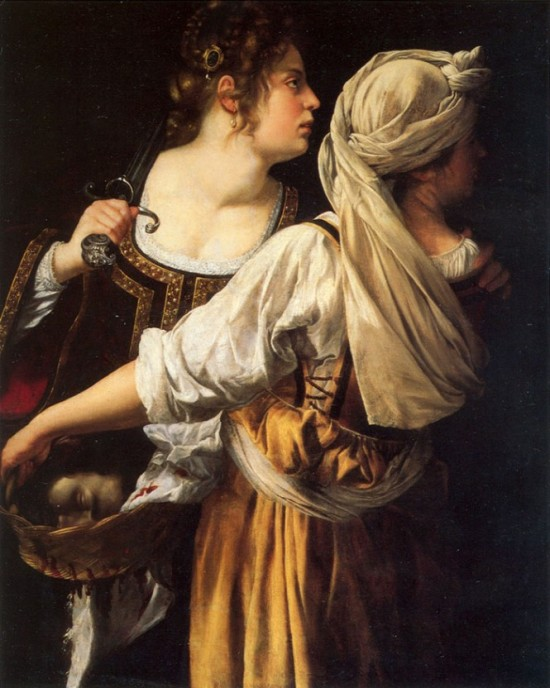 Judith and her Maid, by Artemesia Gentileschi, c.1619