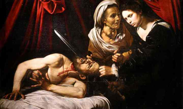 Judith beheading Holofernes, c.1598, attributed to Caravaggio