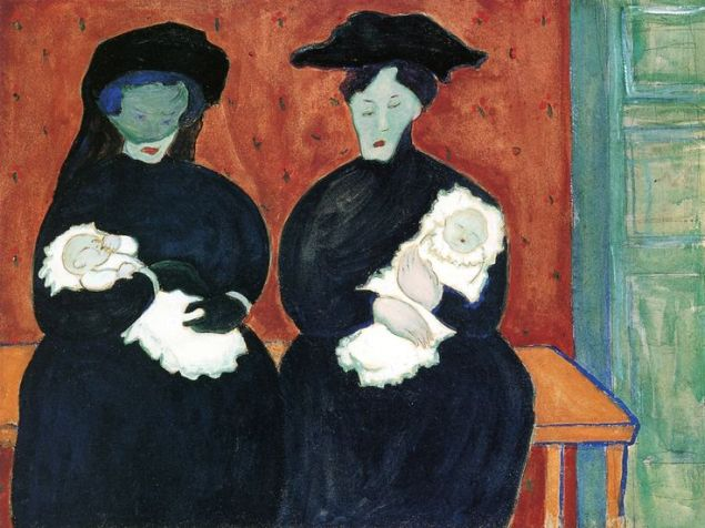 Twins by Marianne Werefkin, 1909