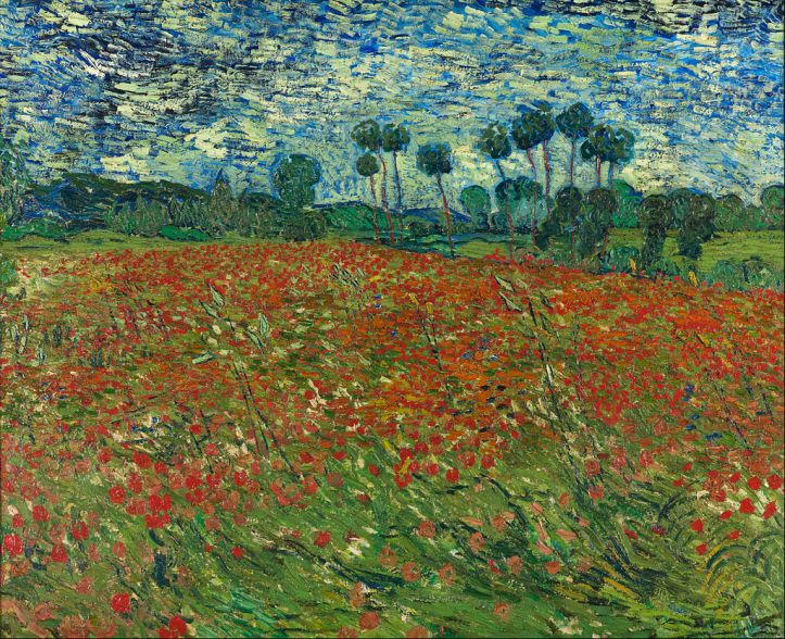 Poppy Field, Auvers-sur-Oise by Van Gogh, 1890