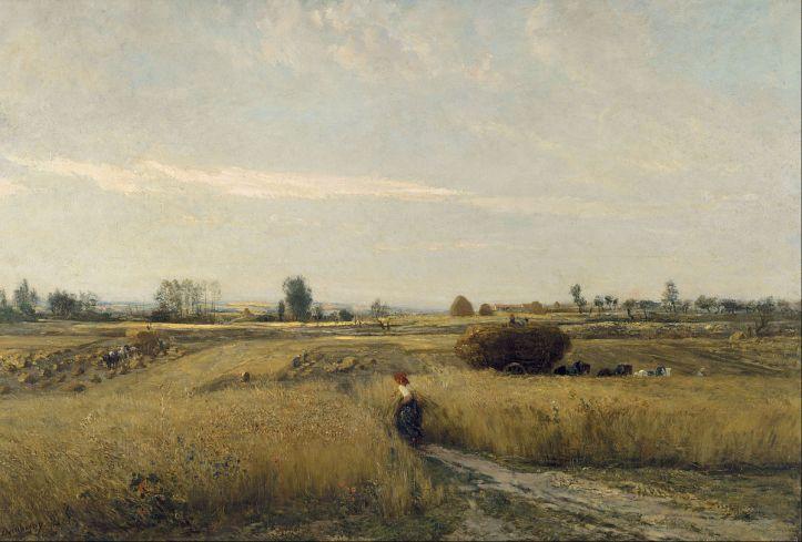 The Harvest by Charles-François Daubigny, 1851