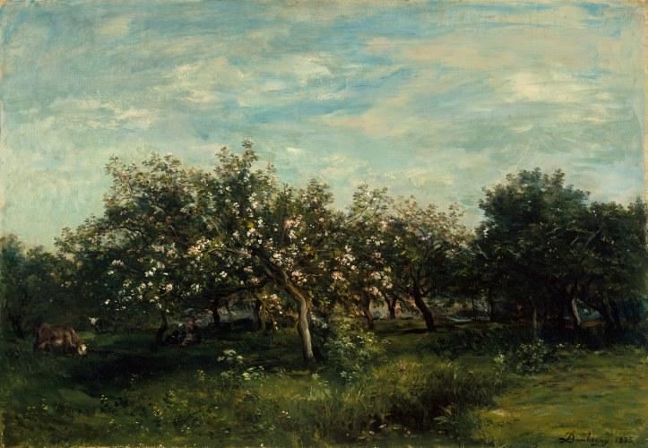 Apple Blossoms by Charles-François Daubigny, 1873