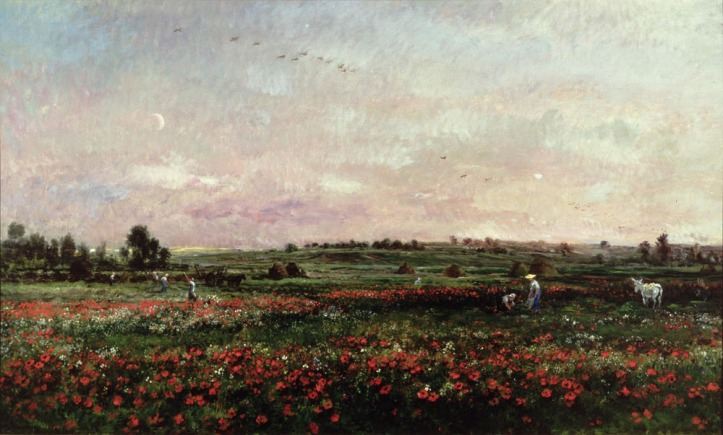 Fields in the Month of June by Charles-François Daubigny, 1874