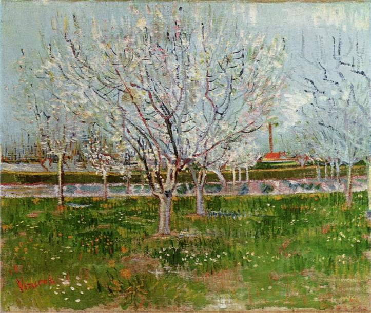 Orchard in Blossom by Van Gogh, 1888