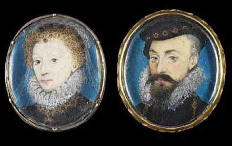 Elizabeth I and Robert Dudley by Nicholas Hilliard, 1575