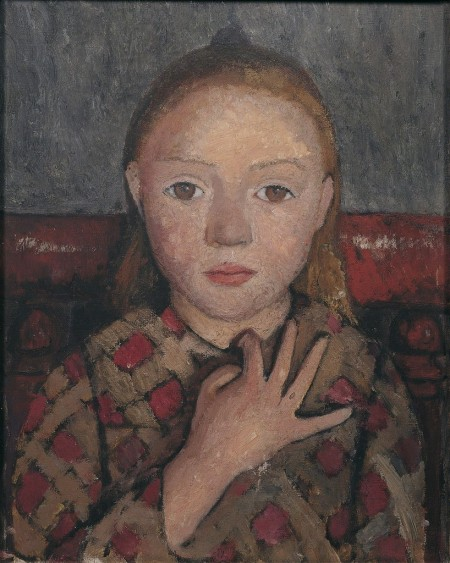 Portrait of a Girl with Hand Spread Across her Chest, 1905, © Paula Modersohn-Becker