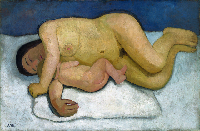 Reclining Mother and Child Nude II 1906, ©Paula Modersohn-Becker