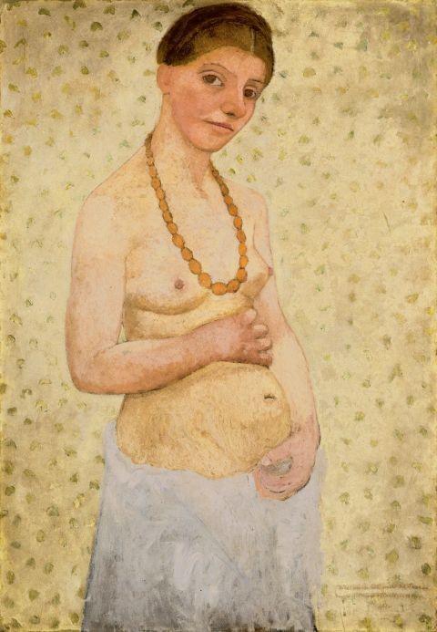 Self-portrait on her sixth Wedding Day, 1906, © Paula Modersohn Becker