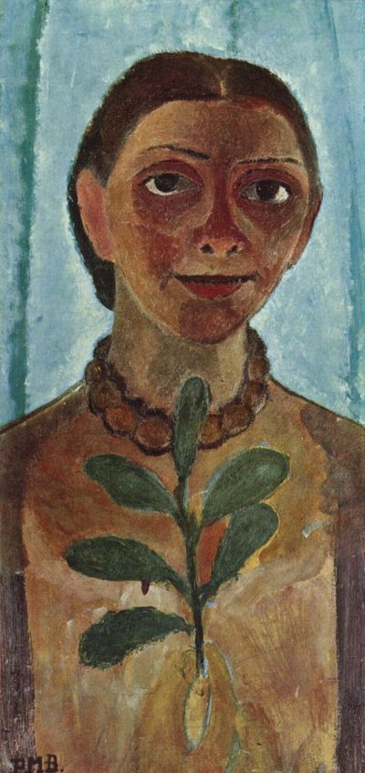 Self Portrait with Camelia Branch, 1907, © Paula Modersohn-Becker